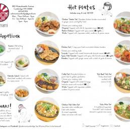 Cafe Mami Japanese Restaurant Menu Design