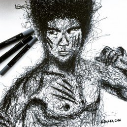 Bruce Lee illustration by Rayna Lo