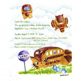 Catbus Baby Shower Invite