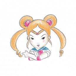 Sailor Moon Samurai Girl by Rayna Lo