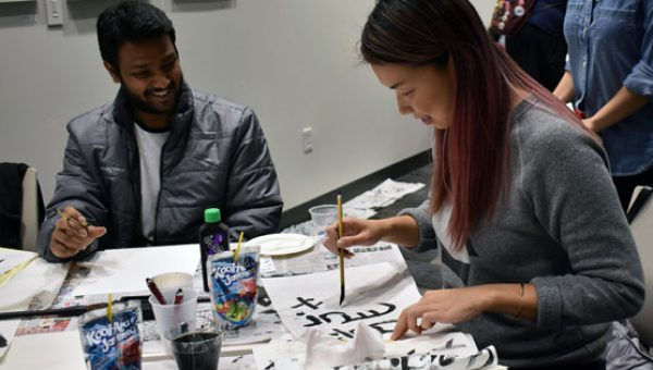 Rayna Lo Northeastern University Chinese calligraphy workshop