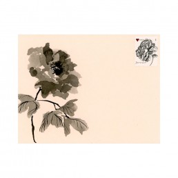 Hand-painted Chinese flower envelope by Rayna Lo