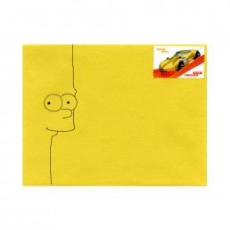 Bart Simpson envelope hand-drawn by Rayna Lo