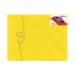 Homer Simpson envelope hand-drawn by Rayna Lo
