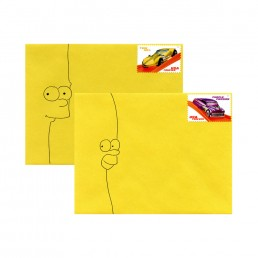 Simpsons envelope set hand-drawn by Rayna Lo
