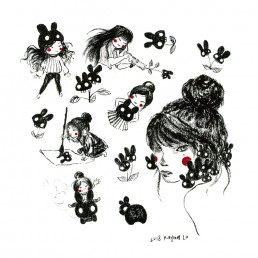 Black Bunnies by Rayna Lo