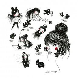 Black Bunnies by Rayna Lo