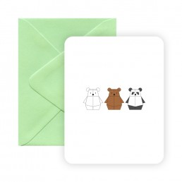 Pandabot We Bare Bears greeting card by Rayna Lo