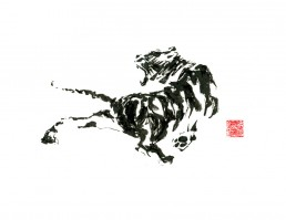 Fierce Tiger fine art print by Rayna Lo