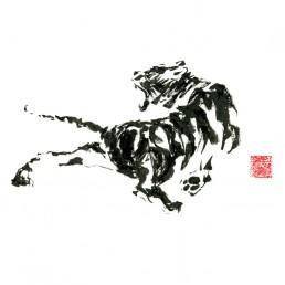 Fierce Tiger fine art print by Rayna Lo