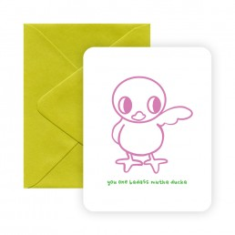 Mutha Ducka greeting card by Rayna Lo