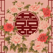 <strong>Double Happiness Wedding Sign</strong><br><br>Custom wedding sign with hand-drawn flowers and double happiness symbol. The Double Happiness ligature is composed of 喜喜 – which are two adjacent copies of the Chinese character 喜, which means joy <br><br>8 ft x 5 ft<br><br>2019