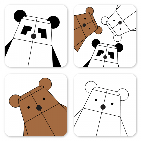 Bearbots postcard set by Rayna Lo