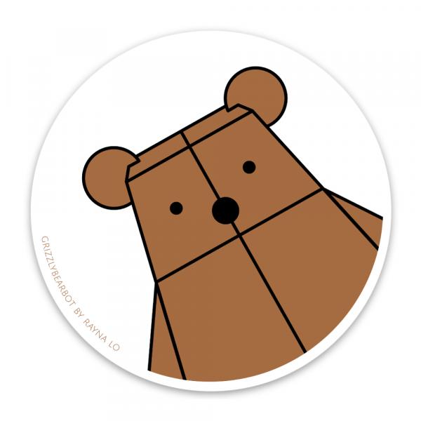Grizzlybearbot Sticker for Australia by Rayna Lo