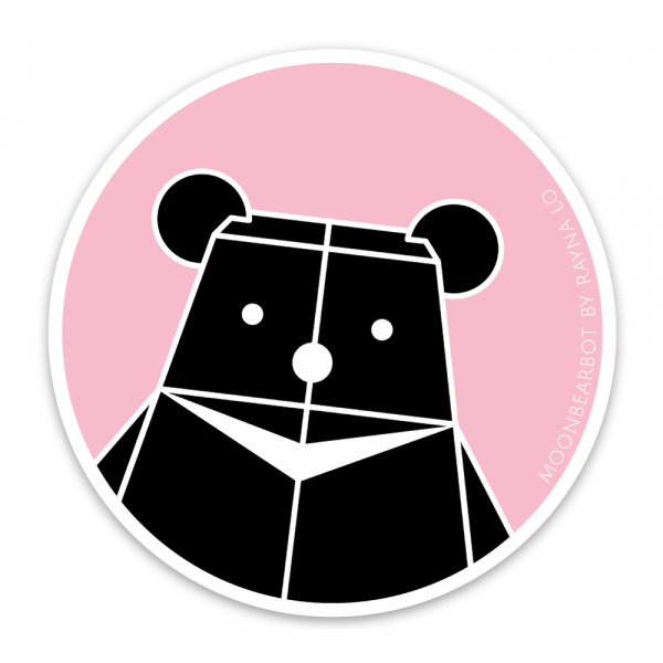 Moonbearbot Sticker for Australia by Rayna Lo