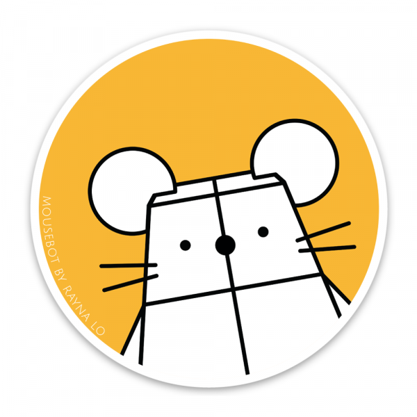 Mousebot Sticker for Australia by Rayna Lo