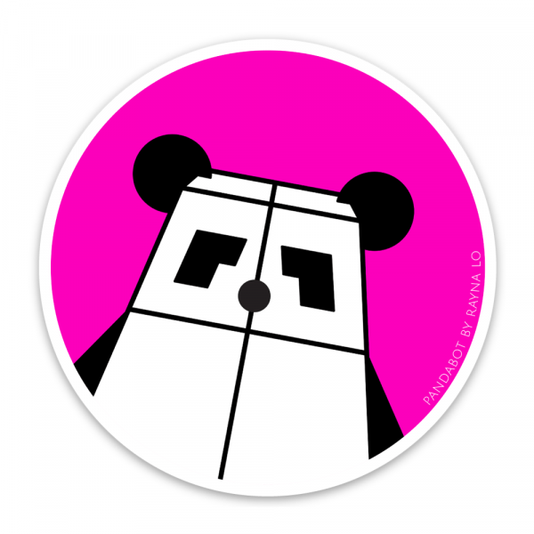 Pandabot Sticker for Australia by Rayna Lo