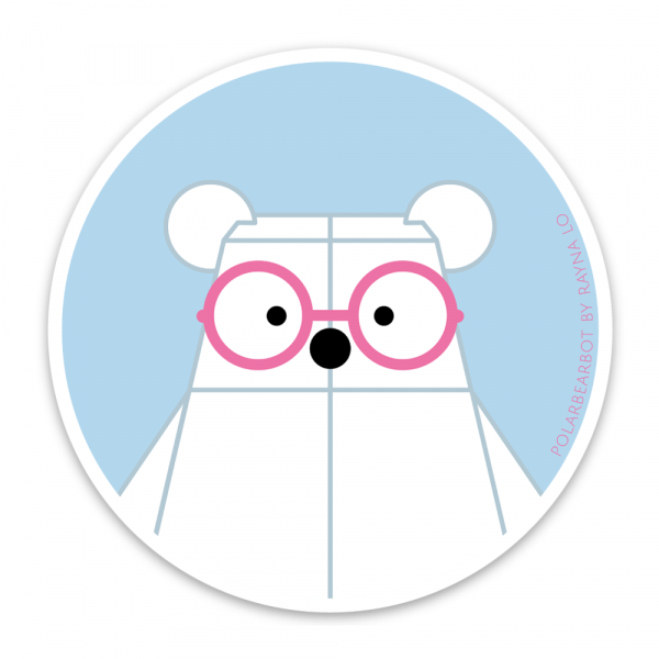 Polarbearbot Sticker for Australia by Rayna Lo
