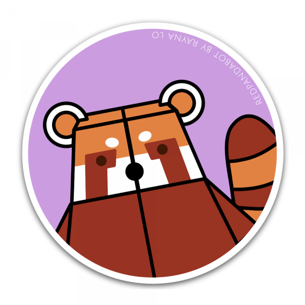 Redpandabot Sticker for Australia by Rayna Lo