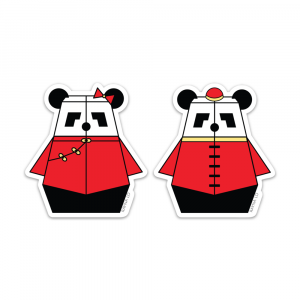 Mr & Mrs Pandabot Sticker Set by Rayna Lo