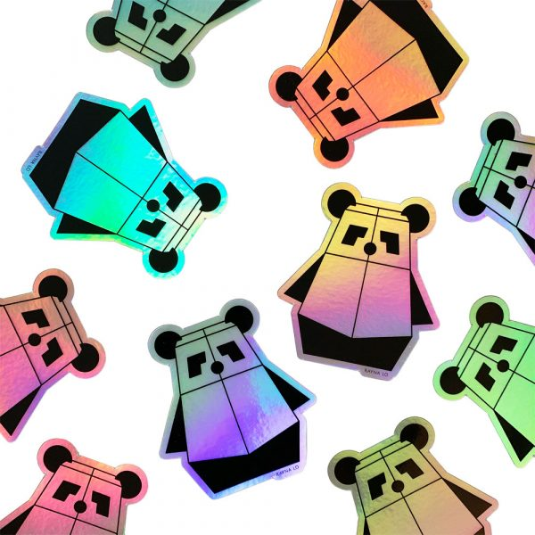 Pandabot Holographic sticker by Rayna Lo