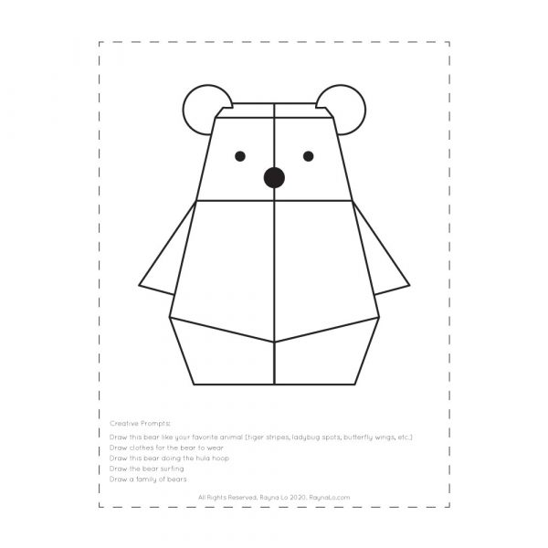 Bearbot Coloring PDF by Rayna Lo