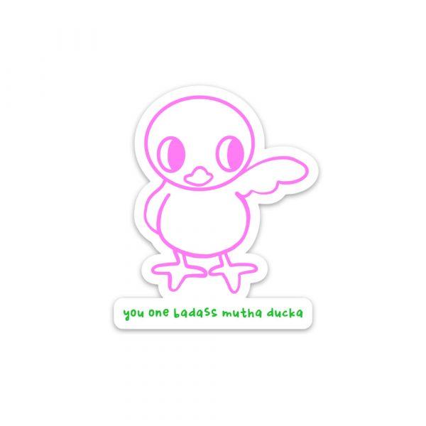 Badass Mutha Ducka magnet by Rayna Lo