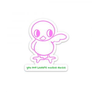 Badass Mutha Ducka sticker by Rayna Lo