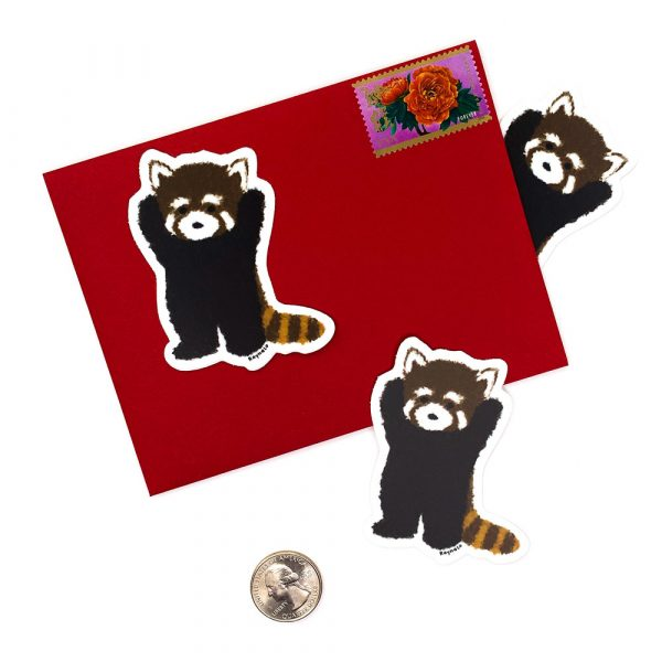 Red Panda sticker by Rayna Lo