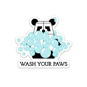 Wash Your Paws static cling by Rayna Lo