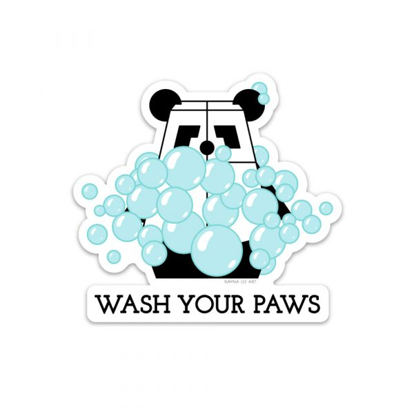 Wash Your Paws sticker by Rayna Lo