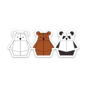 Bearbot Friends magnet by Rayna Lo