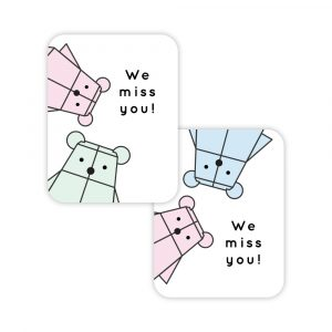 color Bearbot card set by Rayna Lo