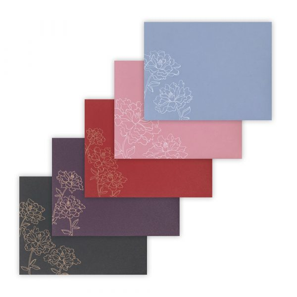 floral art envelope set by Rayna Lo