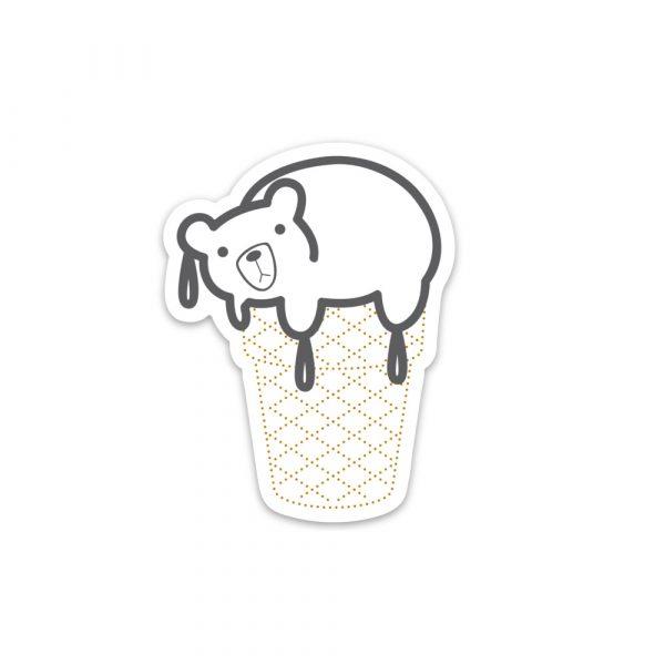 Percy the Melting Polar Bear sticker by Rayna Lo