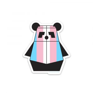 Trans Pandabot Sticker by Rayna Lo