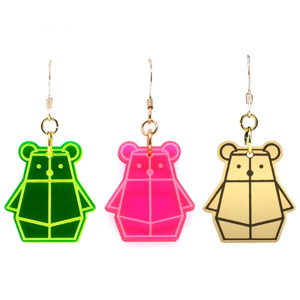 Bear Mindful Earrings by Rayna Lo in Collaboration with And Studio