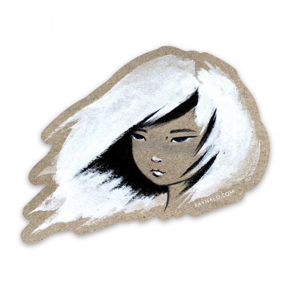 Calligraphy Girl Sticker by Rayna Lo