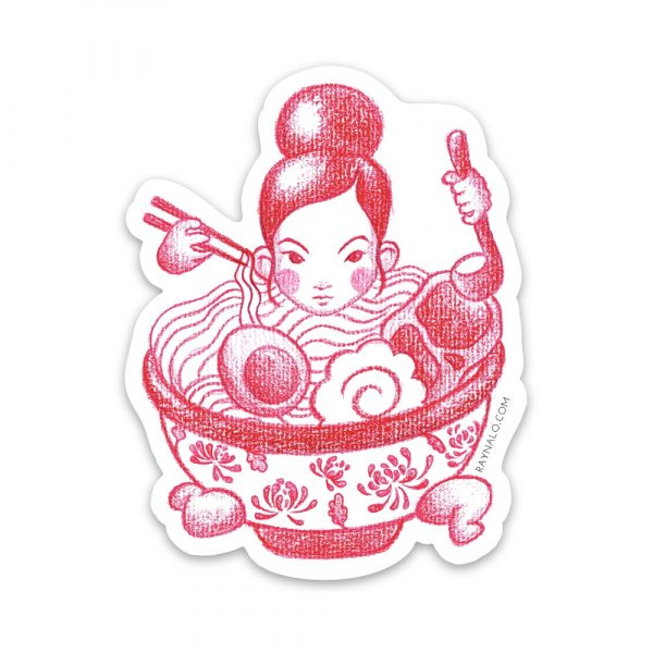 Ramen Girl Sticker by Rayna Lo