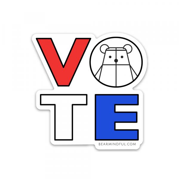 Bearmindful Vote Sticker by Rayna Lo