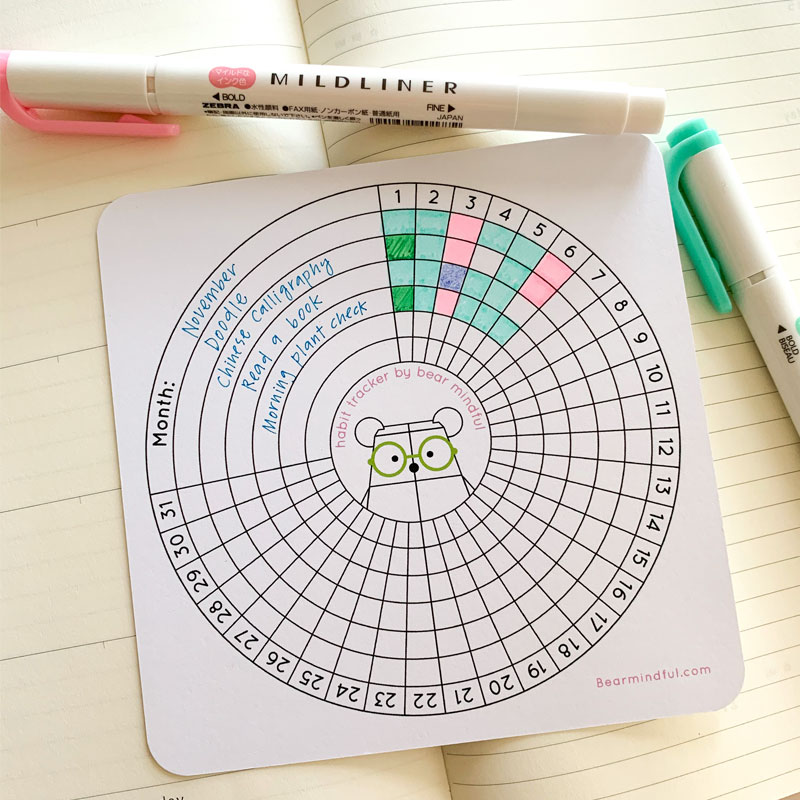 Habit Tracking with Bear Mindful by Rayna Lo