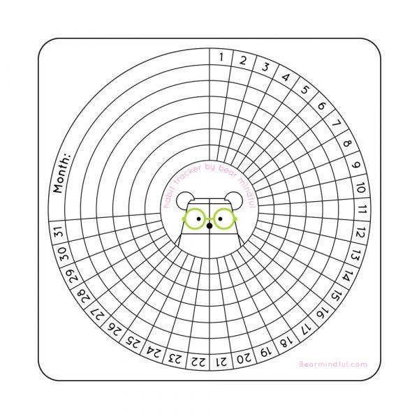 Bear Mindful Habit Tracker by Rayna Lo