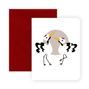 Lucky Cranes Greeting Card by Rayna Lo