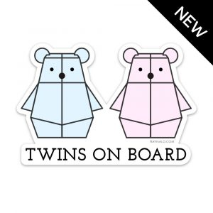 Twins on Board Bumper Sticker by Rayna Lo