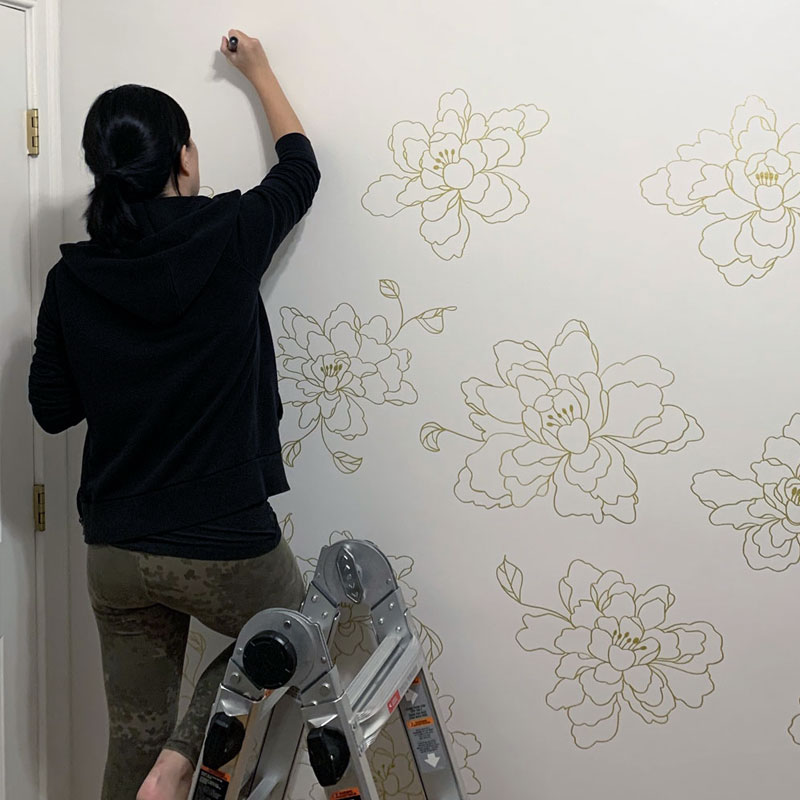 Drawing on my Walls with Posca Paint Markers – the Ultimate Zoom Background by Rayna Lo