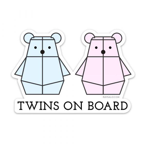 Twins on Board Bumper Sticker by Rayna Lo