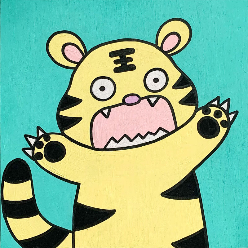 Cabbage the Tiger – A Character Brought to Life from my Daily Doodle Exercise by Rayna Lo