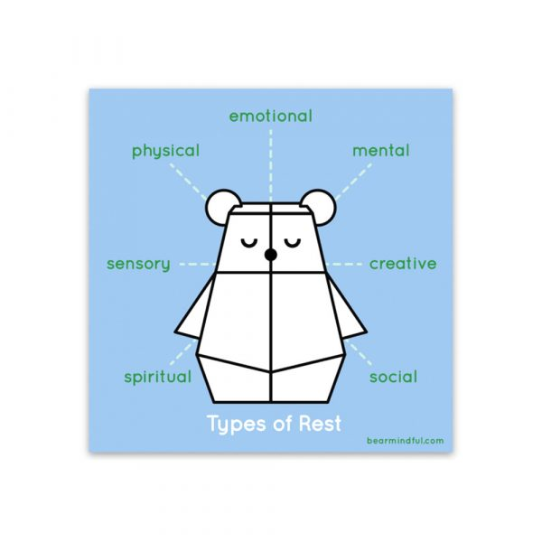 Bear Mindful Types of Rest sticker by Rayna Lo