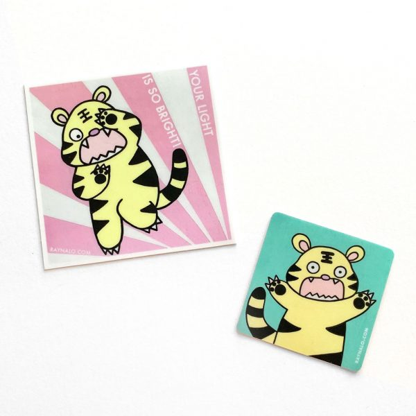 Cabbage the Tiger sticker set by Rayna Lo
